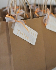 for display only - Kraft Paper Swag Bag
